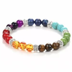 7 Chakra Stones Healing Prayer Beaded Bracelet